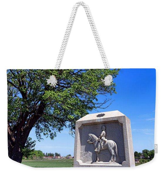 Gettysburg National Park 8th New York Cavalry Memorial Weekender Tote Bag