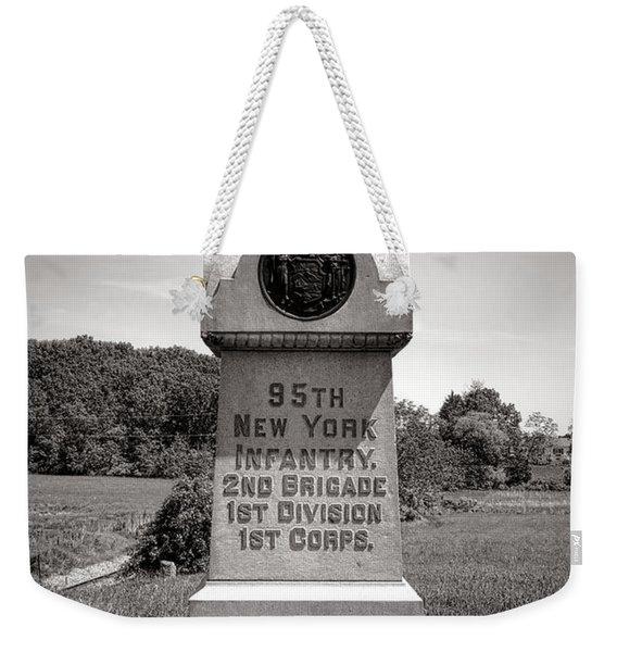 Gettysburg National Park 95th New York Infantry Monument Weekender Tote Bag