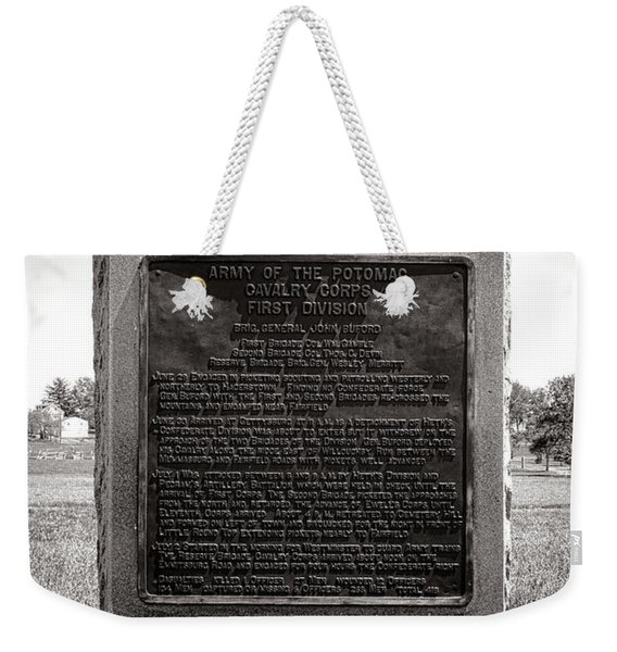 Gettysburg National Park Army Of The Potomac Cavalry Corps Monument Weekender Tote Bag