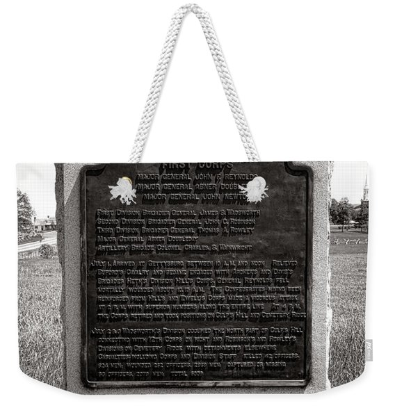 Gettysburg National Park Army Of The Potomac Third Division Monument Weekender Tote Bag