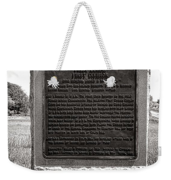 Gettysburg National Park Army Of The Potomac First Division Monument Weekender Tote Bag