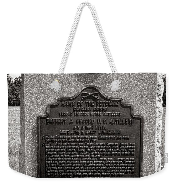 Gettysburg National Park Army Of The Potomac Second Brigade Horse Artillery Weekender Tote Bag