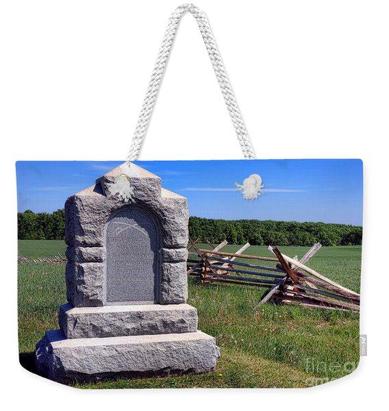 Gettysburg National Park Third West Virginia Cavalry Memorial Weekender Tote Bag