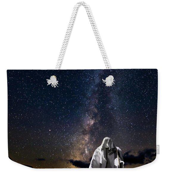 Ghost Rider Under The Milky Way. Weekender Tote Bag