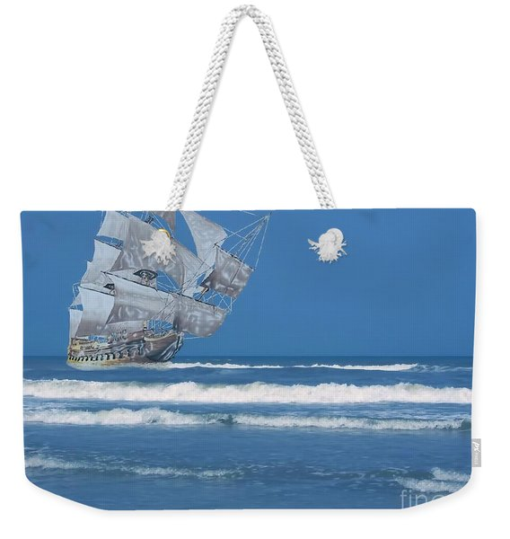 Ghost Ship On The Treasure Coast Weekender Tote Bag