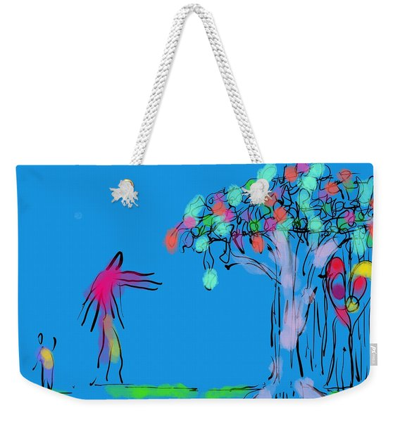 Giant, Boy, And Doorway Weekender Tote Bag