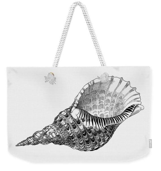 Giant Triton Shell Weekender Tote Bag