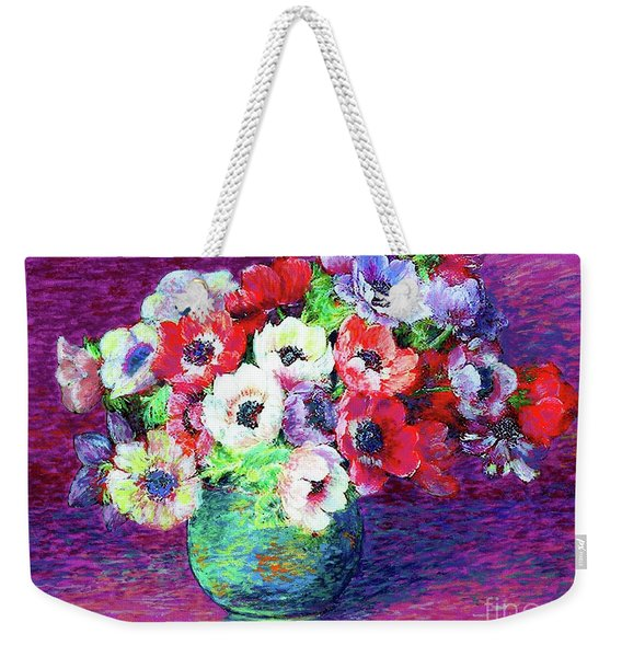 Gift Of Anemones Weekender Tote Bag
