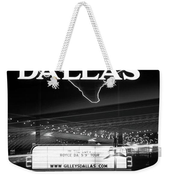 Gilley's Dallas V3bw Weekender Tote Bag