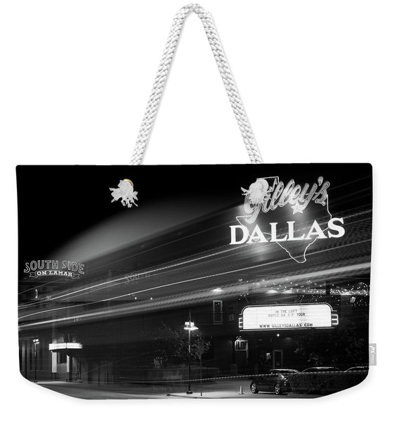 Gilley's Motion Bw Weekender Tote Bag