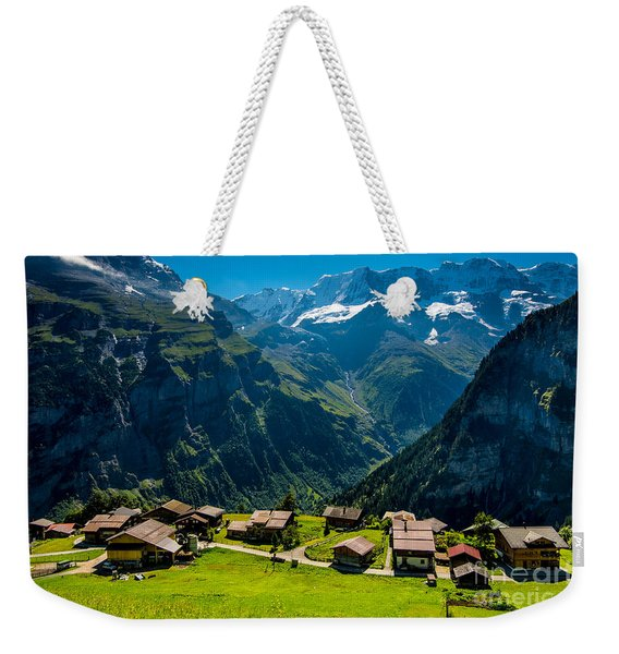 Gimmelwald In Swiss Alps - Switzerland Weekender Tote Bag