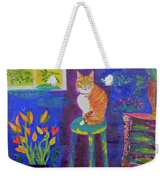 Ginger The Cat Weekender Tote Bag