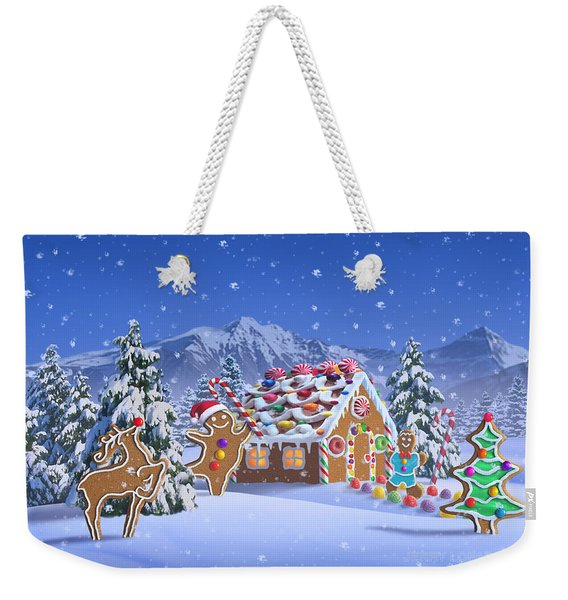 Gingerbread House Weekender Tote Bag