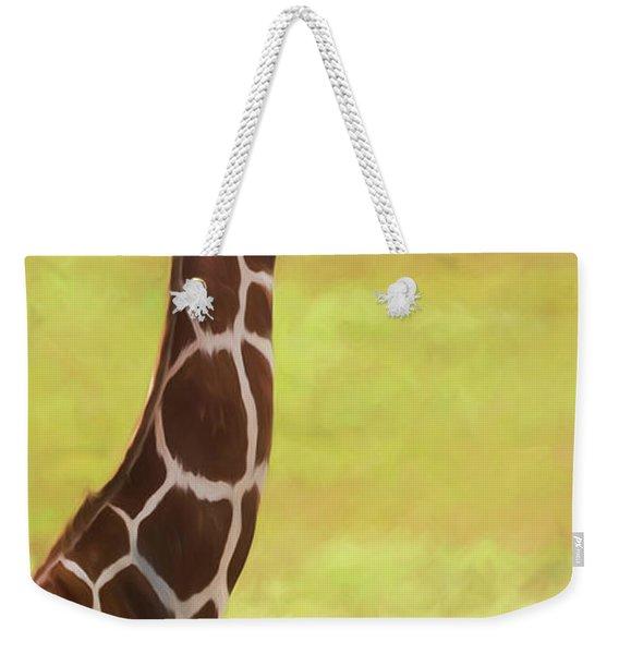Giraffe - Backward Glance Weekender Tote Bag