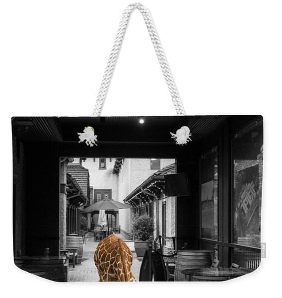 Giraffe Drinking Whiskey Series 4987y Weekender Tote Bag