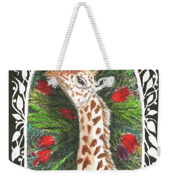 Giraffe In Archway Weekender Tote Bag