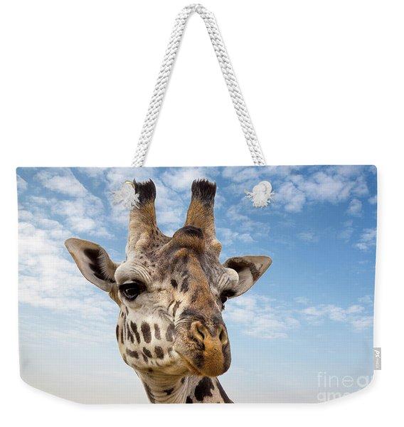 Giraffe In The Masai Mara Weekender Tote Bag