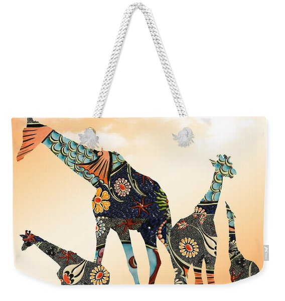 Giraffe Stroll Weekender Tote Bag