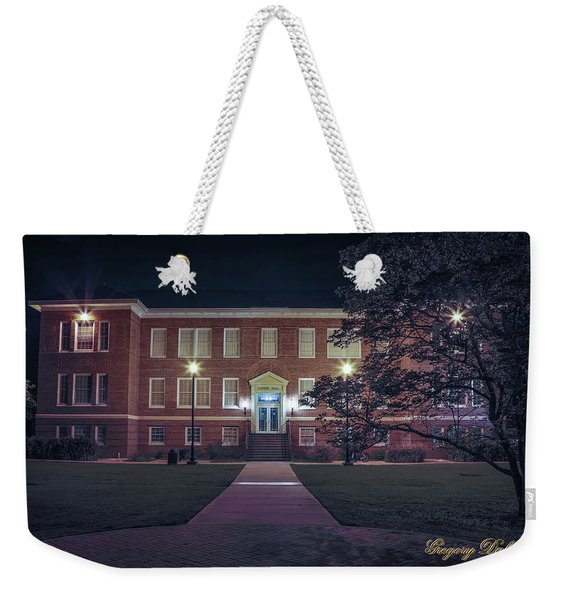 Girard Hall At Night Weekender Tote Bag
