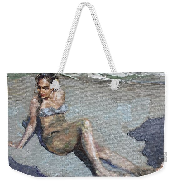 Girl At The Beach  Weekender Tote Bag
