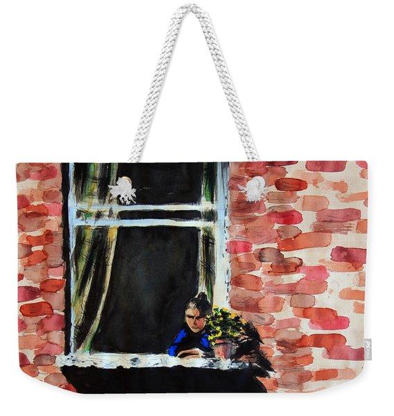 Girl At Window Weekender Tote Bag