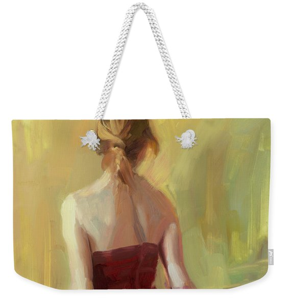 Girl In A Copper Dress I Weekender Tote Bag