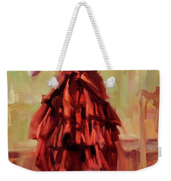 Girl In A Copper Dress IIi Weekender Tote Bag