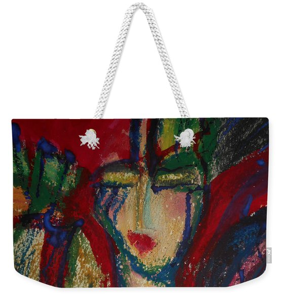 Girl In Darkness Weekender Tote Bag
