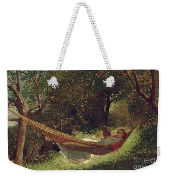 Girl In The Hammock Weekender Tote Bag
