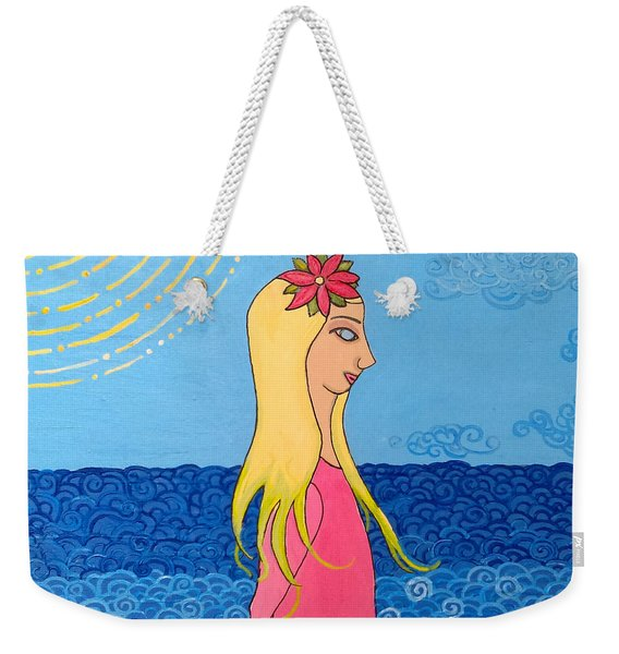Girl In The Water Weekender Tote Bag