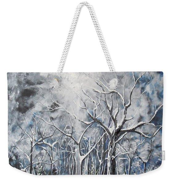 Girl In The Woods Weekender Tote Bag
