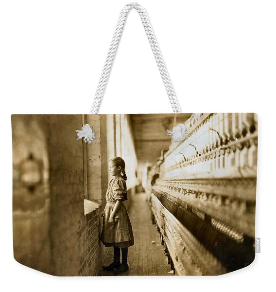 Girl Spinner 11 Years Old Rhodes Manufacturing Co Lincolnton 1908 Weekender Tote Bag