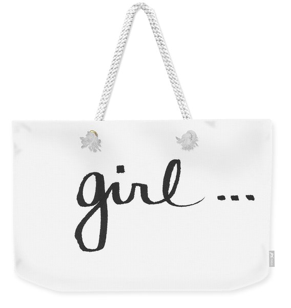 Girl Talk- Art By Linda Woods Weekender Tote Bag