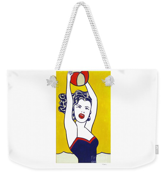 Girl With Ball - Pop Art - Roy Lichtenstein Weekender Tote Bag