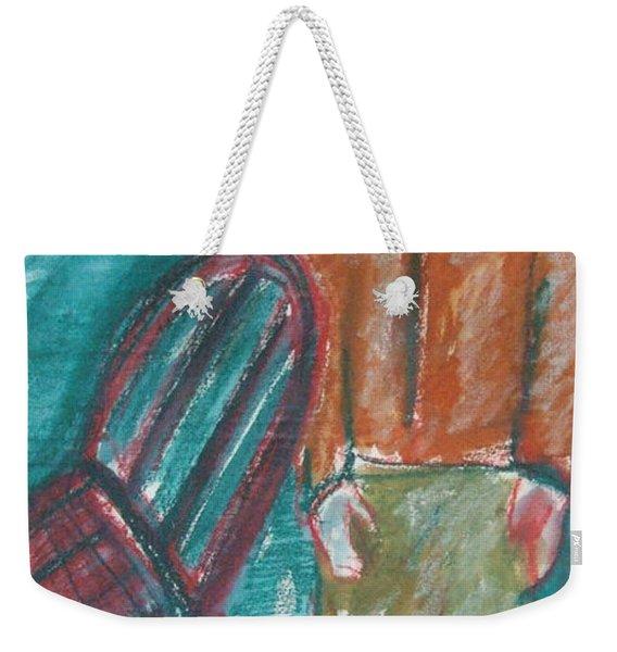 Girl With Chair Weekender Tote Bag