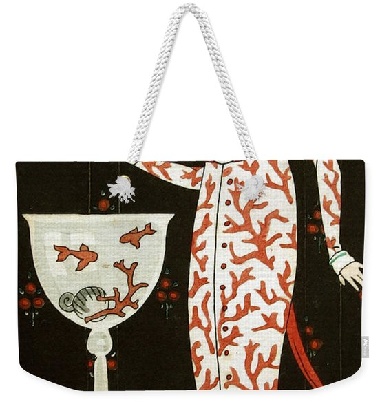 Girl With Fish Bowl Weekender Tote Bag