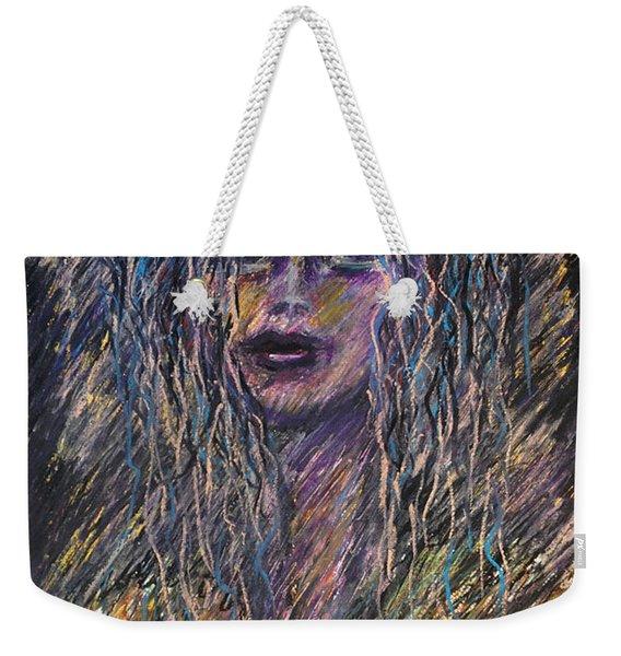 Girl With Hat Weekender Tote Bag