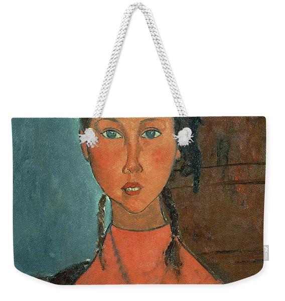 Girl With Pigtails Weekender Tote Bag