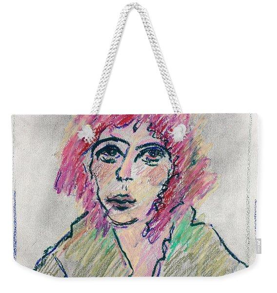 Girl With Pink Hair  Weekender Tote Bag