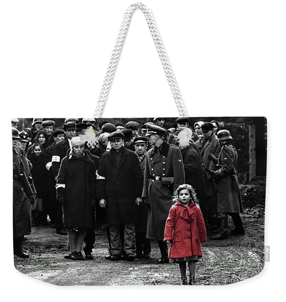 Girl With Red Coat Publicity Photo Schindlers List 1993 Weekender Tote Bag