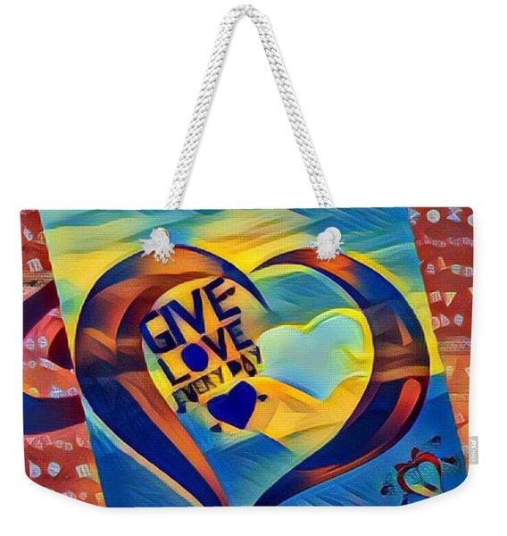 Give Love Weekender Tote Bag