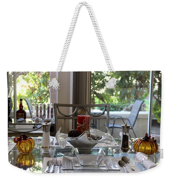 Giving Thanks In California Thanksgiving Table Weekender Tote Bag