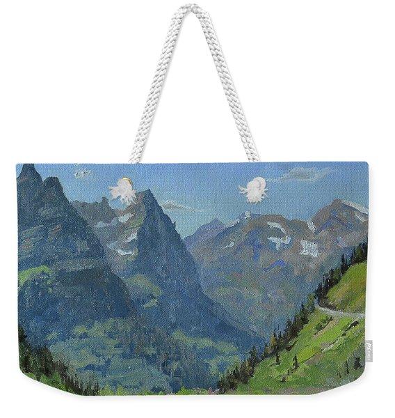 Glacier Afternoon Weekender Tote Bag