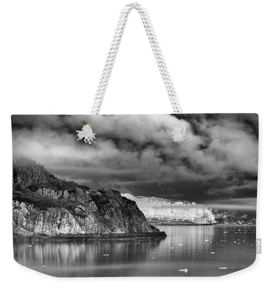 Glacier Bay Alaska In Bw Weekender Tote Bag