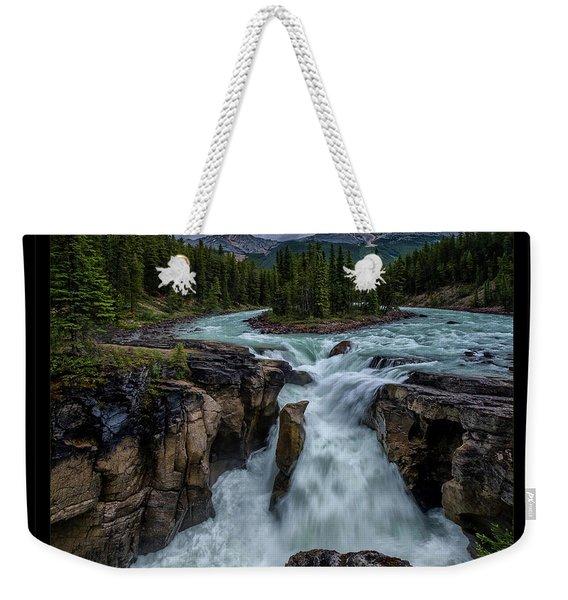 Glacier Falls Weekender Tote Bag