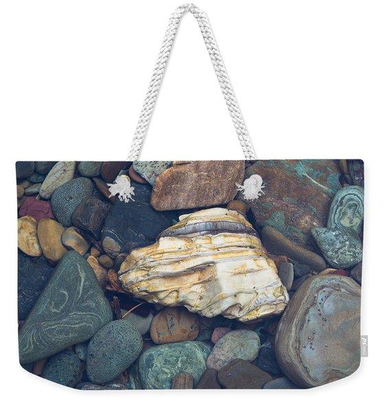 Glacier Park Creek Stones Submerged Weekender Tote Bag