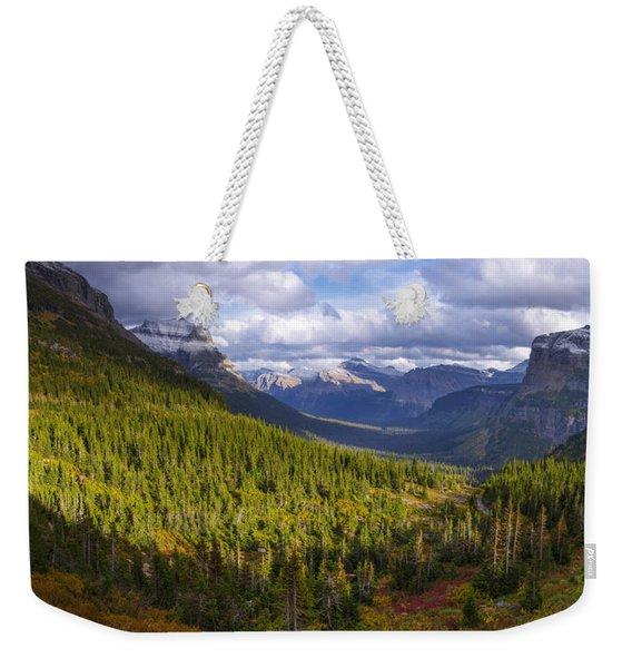 Glacier Storm Weekender Tote Bag