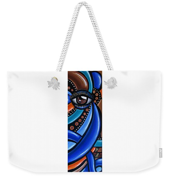Abstract Eye Art Acrylic Eye Painting Surreal Colorful Chromatic Artwork Weekender Tote Bag