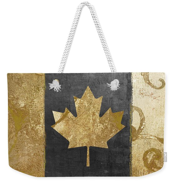 Glamour Gold Canada Flag Weekender Tote Bag