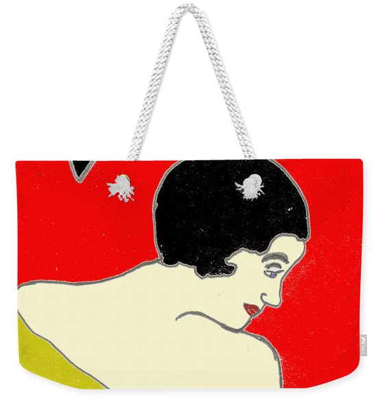 Glancing Down Weekender Tote Bag